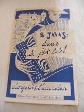 Partition Dans le p'tit bal C'est épatant l'accordéon Java Cappé