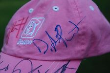 TPC Boston Pink Golf Hat signed by 8