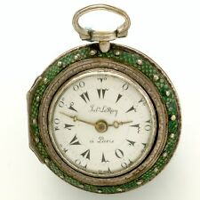 Rare Ladies Miniature Turkish Verge Fusse Pair Case Pocket Watch by LeRoy CA1745