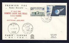 56253) AUA FF Paris - Wien 1.4.66, SoU