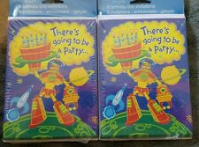 2 packs of Tender Thoughts Boys or Girls Birthday   invitation cards Space Robot