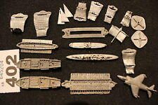 Unknown Manufacture Miniatures Metal Boats Ships Wargames Die Cast Very Old