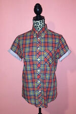 Ben Sherman Mens Skinhead Mod Punk Oi Hipster Red Plaid Casual Button Up Shirt S