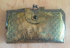 Nwt Women's Hobo Leather Wallet, Alice, Halo Stingray, MSRP $108.00