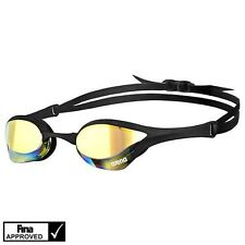 Swimming Goggles *NEW* Arena Cobra Ultra Made In JPN Yellow/Revo/Black/Black