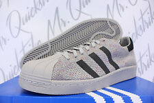 ADIDAS SUPERSTAR 80 'S PK SZ 11.5 MULTICOLOR GRAY GREY WHITE PRIMEKNIT S75843