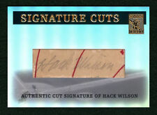 HACK WILSON 2004 TOPPS TRIBUTE HOF SIGNATURE CUTS 1/1 CUT AUTO SP LEGENDARY RARE