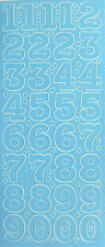 25MM TALL (2.5CM) NUMBERS LARGE PEEL OFF STICKERS 0 - 10 CARDMAKING SCRAPBOOKING