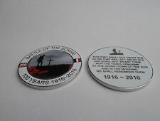 BATTLE OF THE SOMME 100 YEARS 1916-2016 MEDAL