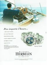 PUBLICITE ADVERTISING 126  1999  montre  Newport Trophy Michel Herbelin