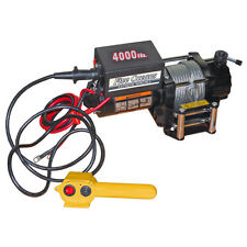 ELECTRIC TRAILER RECOVERY WINCH – ATV/BOAT/TRUCK/CAR – 4000 lb 12V- FIVE OCEANS