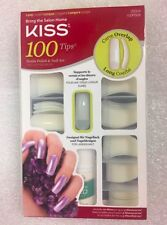 KISS 100 TIPS CURVE OVERLAP LONG LENGTH 100PS08 NAILS TRIM & FILE TO ANY SHAPE