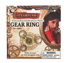 Steampunk Gear Anillo Victoriano Fancy Dress Costume Joyas Industrial Accesorio