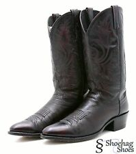 Dan Post Mens Cowboy Boots 10.5 Black Cherry Leather Kangaroo Western Made n USA