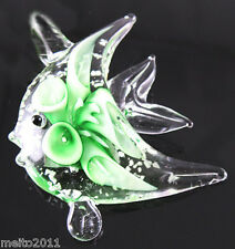 Women Lucency Hot Fish Lampwork Art Glass Pendant Necklace + Free Cord Jewelry