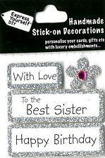 Joyeux anniversaire avec amour meilleur soeur Bricolage Carte de vœux Toppers