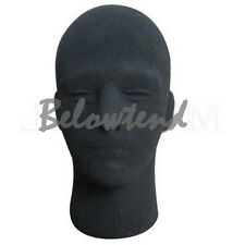 Mannequin Utility Styrofoam Foam Manikin Male Head Model Wig Glasses Black
