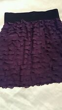 Women's Express mini Skirt, purple ruffled tiered, lined,  Size XS, NWT $34.90