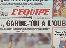journal  l'équipe du 01/12/90 FOOTBALL PAPIN BASKET ADAMS DACOURY