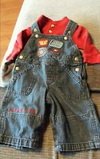 Kola kids 0-3 Months 2 piece set themal shirt & overalls baby boys clothes