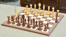Combo of Reproduced ANRI Space Age Chess Pieces &Walnut Maple Wooden Chess Board