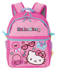 NEW AUTHENTIC SANRIO HELLO KITTY SCHOOL BOOK BAG BACKPACK PURSE lovely 15.5''