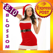 7120 Santa Claus Christmas Fancy Dress Costume 8 10 S M