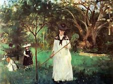 BERTHE MORISOT BUTTERFLY HUNTING OLD MASTER ART PAINTING PRINT POSTER 360OMA
