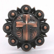 """Cross Berry Concho Antique Copper All Metal 1-1/4"""" 1737-10"""