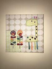 Set Of 2 - Beautiful Unisex Mamas And Papas Jamboree Fabric Wall Pictures