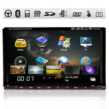 "LENS 7"" 2 Din Car STERE DVD Player GPS Navigation System IPod TV BT USB+MAP"