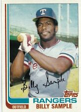 TEXAS RANGERS BILLY SAMPLE 1982 TOPPS #112