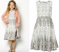"BNWT ""Creamie"" GIRLS PRINTED TWO LAYERED COTTON DRESS from DENMARK, AGE 5 YEARS"