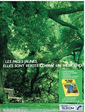 Publicité Advertising 1990 France Telecom Annuaires les pages Jaunes