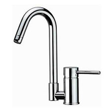 Modern Contemporary Chrome Stainless Steel Kitchen Faucet Mixer