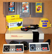 Nintendo NES Console Bundle (BEST PINS) + Super Mario Bros 1 2 & 3 - Guaranteed