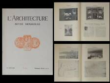 L'ARCHITECTURE 1931 EXPOSITION COLONIALE, FORT DE FRANCE, PARIS 34 RUE PASQUIER