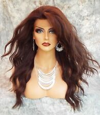 LONG CURLY HEAT SAFE SKIN TOP WIG CLR FS4.30  *GORGEOUS SEXY US SELLER 412