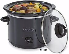 Crock-Pot 3qt Crock Pot Slow Cooker Small Kitchen Appliance Tempered Glass Black