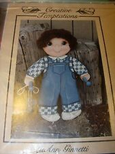 TOLE PAINTING WOOD PROJECT CRAFT DOLL BOY COUNTRY WALL ART FOLK ART PATTERN