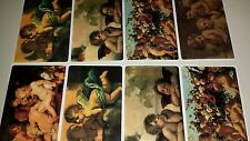 8 Brier Rose Victorian Stickers CHERUBS Victorian Greetings - FREE SHIPPING