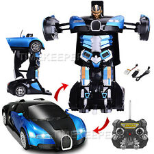 2.4Ghz Bugatti Veyron Transformers RC Radio Remote Control Drifting Robot Car OR