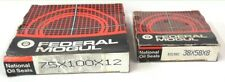 FEDERAL MOGUL,  OIL SEALS,  38X58X8, 75X100X12, LOT OF 2, NIB