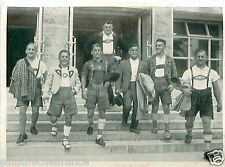 Wrestling Team Germany Olympisches Dorf Olympic village OLYMPIC GAMES 1936 CARD