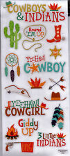 The Paper Studio~Stickabilities COWBOYS & IND stickers~BNIP~Quick Ship!