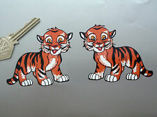 TIGER CUB Bike STICKERS 75mm Handed Pair Triumph Motorcycle Classic Car Sunbeam