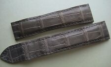 GENUINE CARTIER WATCH 18 mm STRAP BAND GREY ALLIGATOR LEATHER 18/16 mm