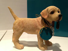 Walkies Standing Golden Yellow Labrador Ornament Dog Puppy Gift Present Figurine