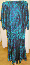 1980s 80's Womens Evening Dress Fancy Dress Costume Outfit Size 8 P8527