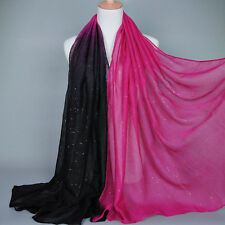 Women Lady Long Cotton Shade Pashmina Hijab Shawl Scarf Voile Scarves Stole Wrap